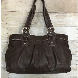 Coach Soho Brown Leather Tote Bag Purse F13733